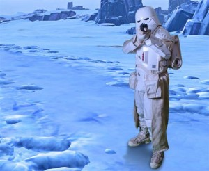 Snowtrooper on Hoth by Claire Wade
