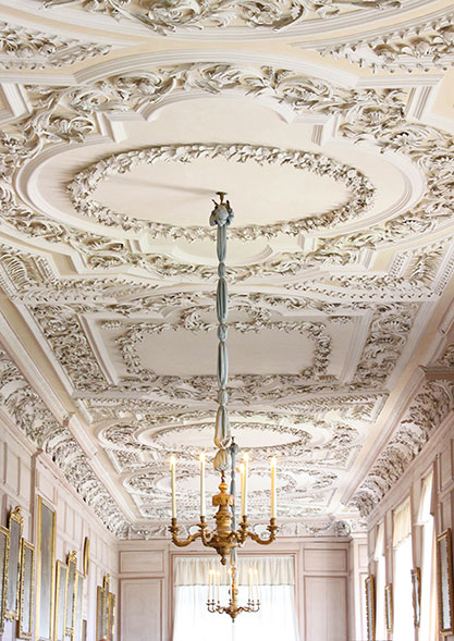 Plasterwork in the long gallery, Shugborough Hall by Pam Bryan