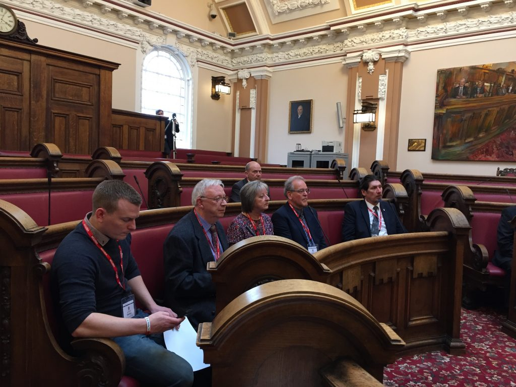 Club members in the Council chambers