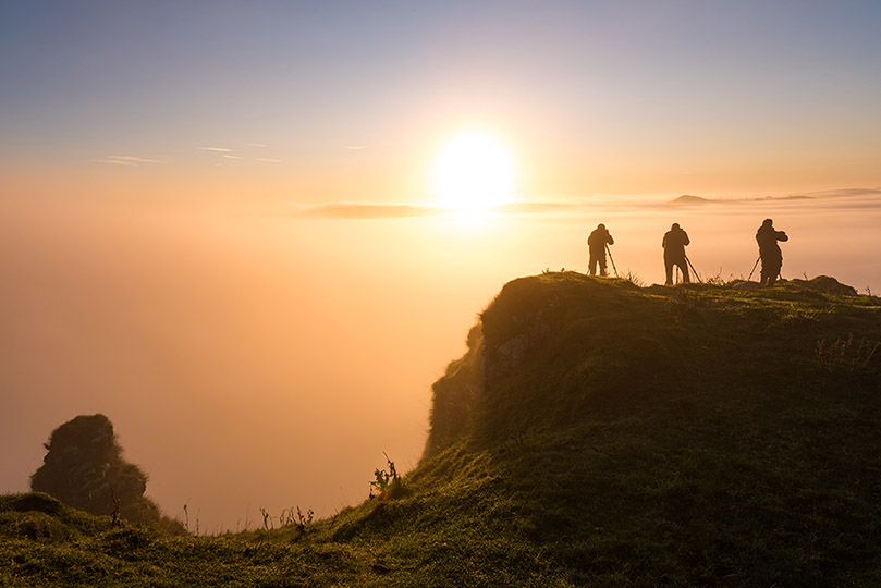 Chrome Hill Silhouette Photographers by Jason Bould