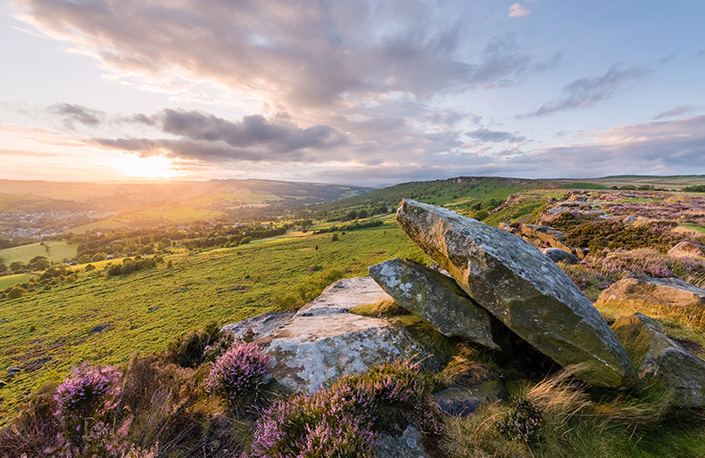 Curbar Edge Sunset by Jason Bould