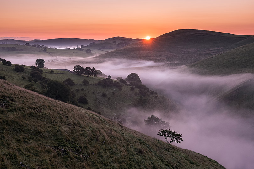 Ecton Hill Misty Sunrise by Jason Bould