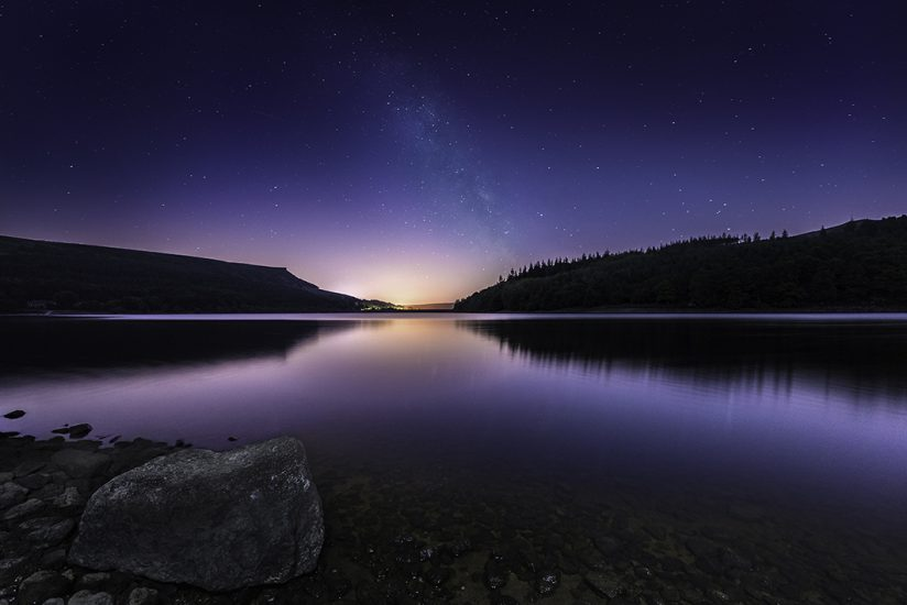 Landscape - Ladybower Milky Way by Jason Bould