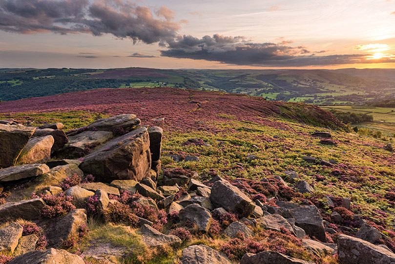 Millstone Edge Sunset by Jason Bould