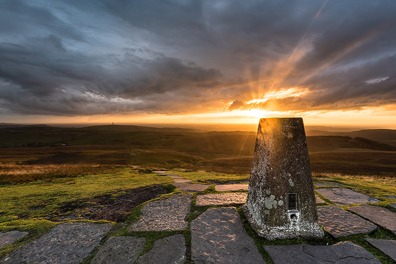 Shutlingsloe Dramatic Sunset by Jason Bould