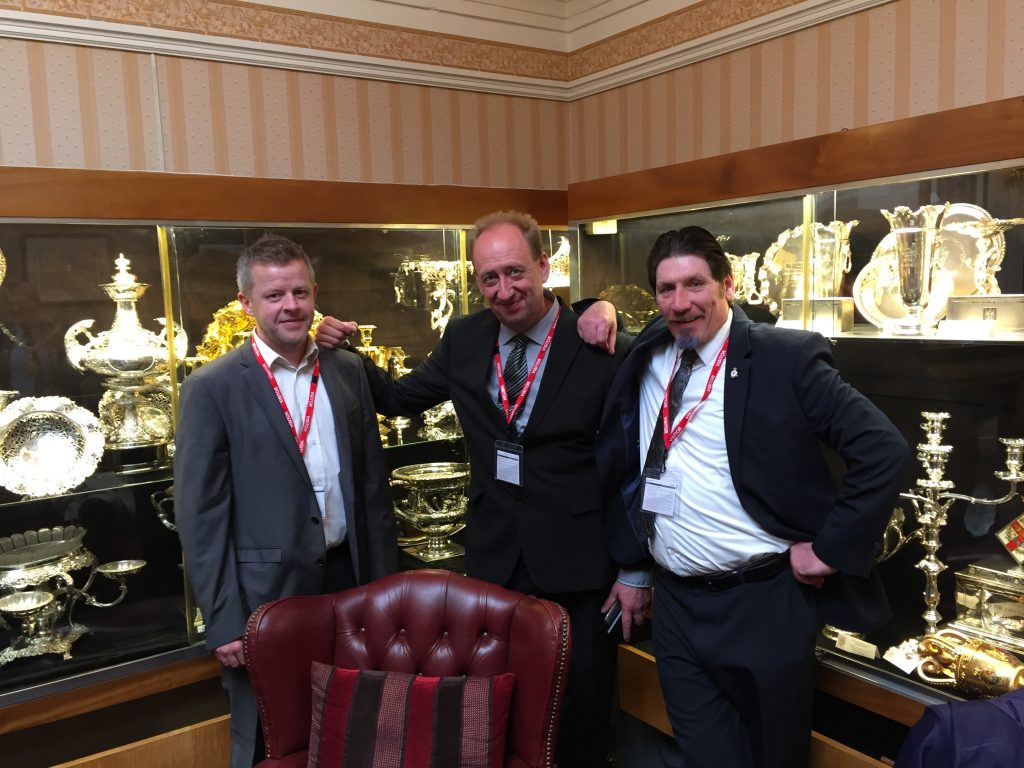 three dodgy looking geezers in the Lord Mayor's Parlour