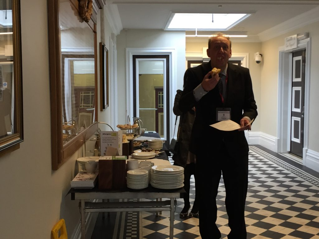Glyn grabbing some extra cake